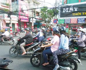 ベトナムの市街地