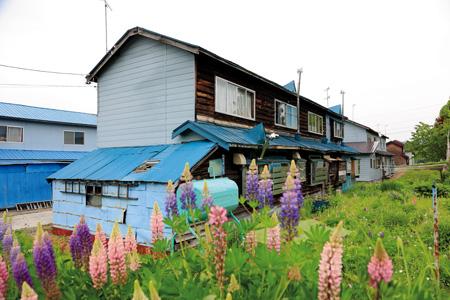 かつては大勢の炭鉱労働者が住んでいた上砂川町の炭鉱住宅