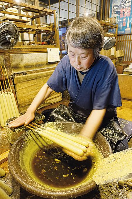 創業200余年。「大森和蝋燭屋」六代目の大森太郎さん