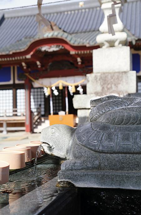 白亀と白蛇の伝説が残る白子神社