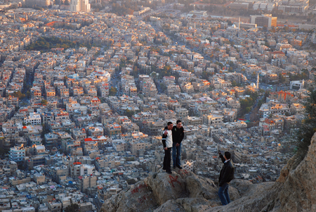 カシオン山から見下ろしたダマスカスの街