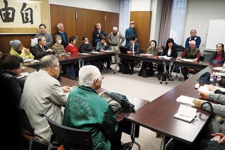 選手村住民訴訟の報告集会